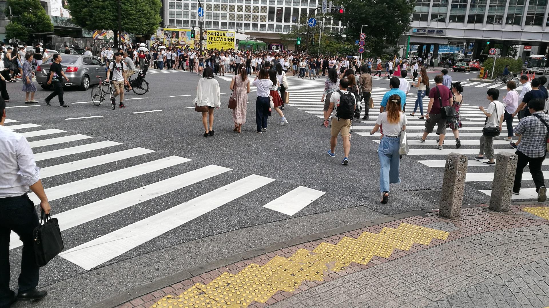 Zebrastreifen Shibuya (Foto: Marina Hochholzner)