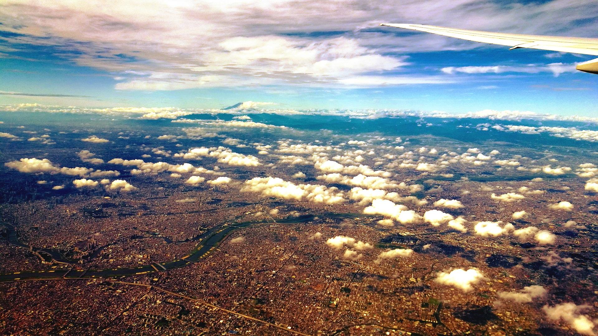 Japan aus dem Flugzeug (Foto: Marina Hochholzner)