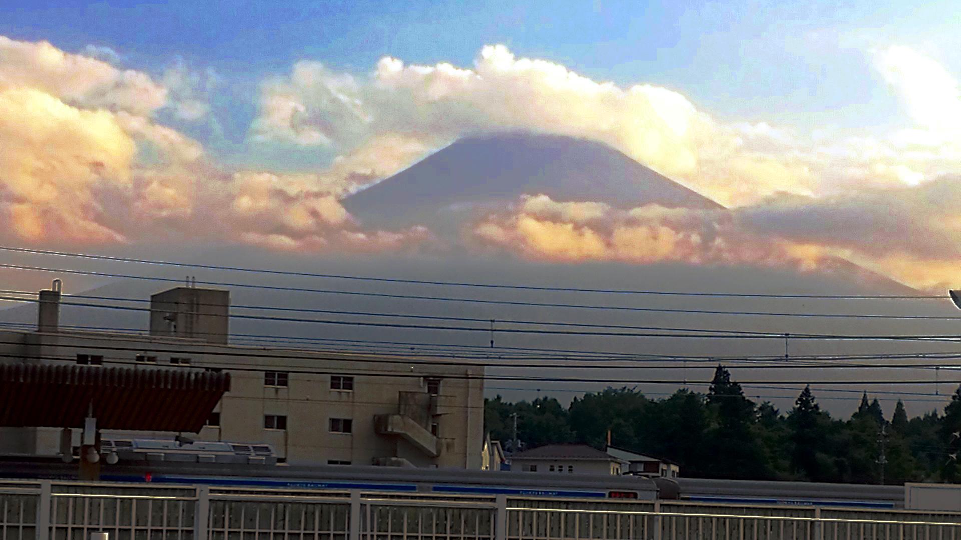 Der Kegel des Fuji (Foto: Marina Hochholzner)