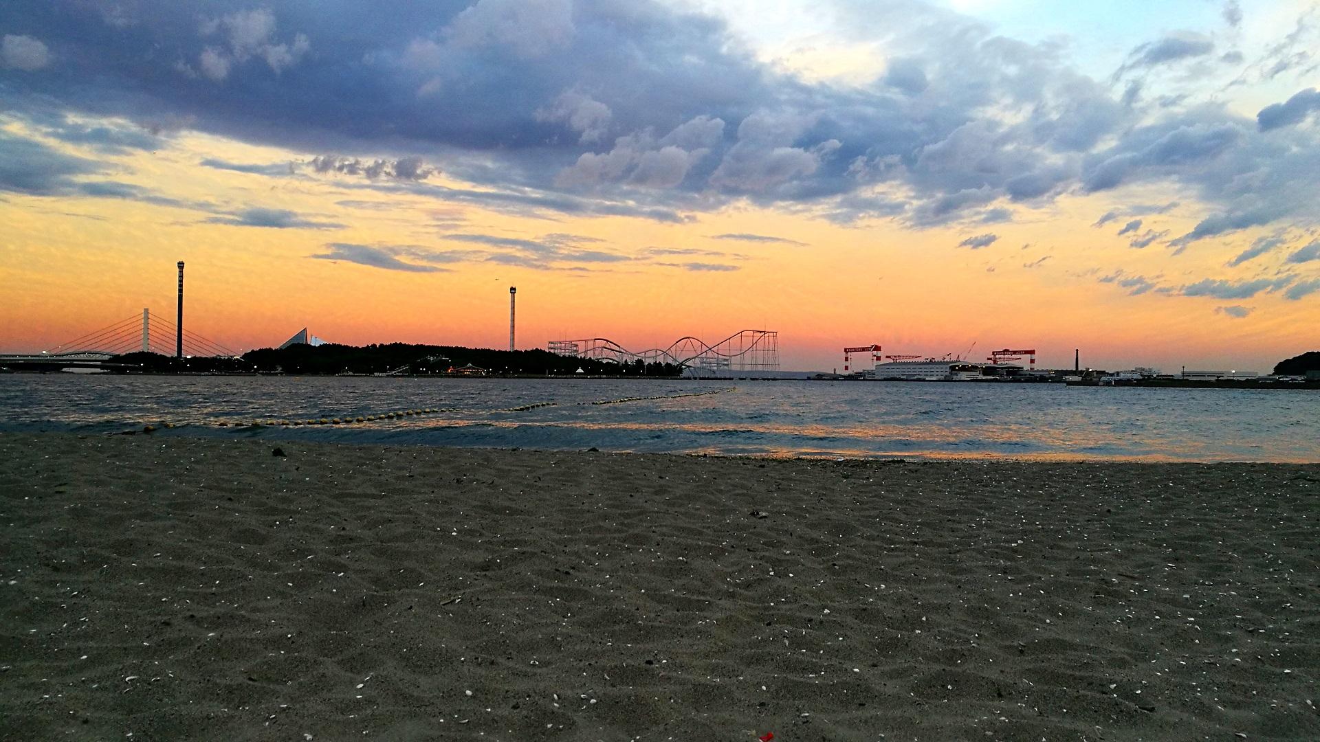 Sonnenuntergang Yokohama (Foto: Marina Hochholzner)